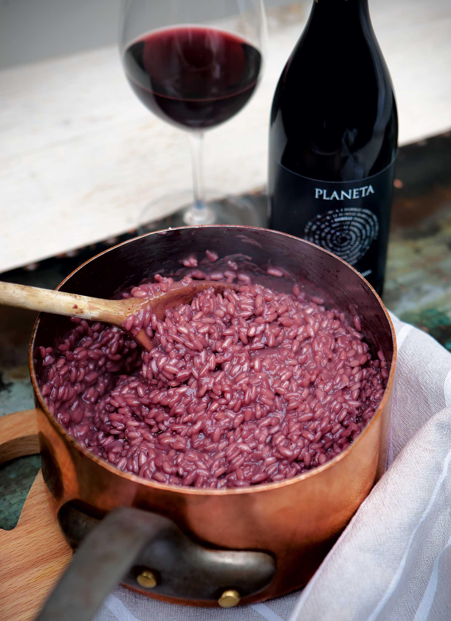 Risotto with cerasuolo wine