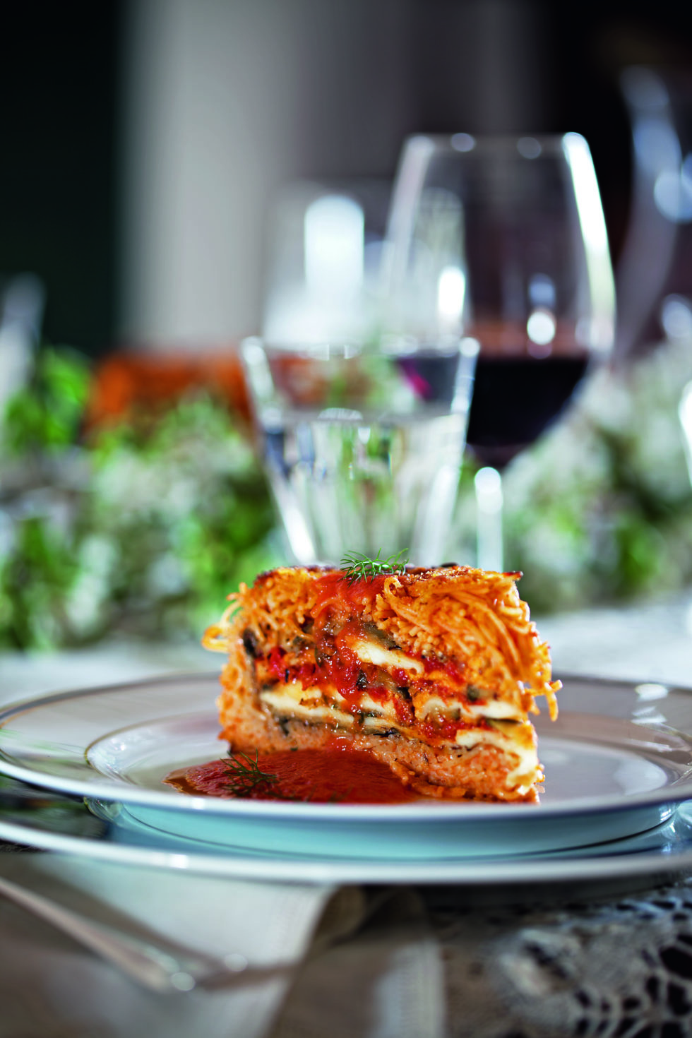 Timballo di Capellini Rosso (Red Capellini Mold)